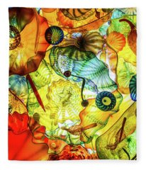 Chihuly Glass Art Fleece Blanket