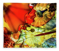 Chihuly Glass Fleece Blanket