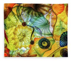 Chihuly Lines Fleece Blanket