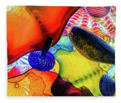 Chihuly Up Close Fleece Blanket