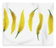 Chillies Lined Up II Fleece Blanket