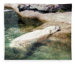 Chillin' Polar Bear Fleece Blanket