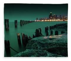 Chilly Chicago 2 Fleece Blanket