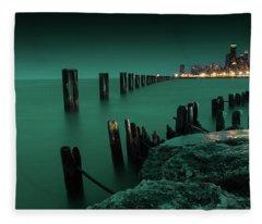 Chilly Chicago Fleece Blanket