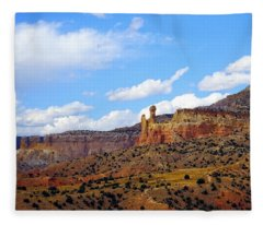 Chimney Rock Ghost Ranch New Mexico Fleece Blanket