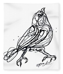 Chin Up Little Buttercup  Abstract Pollock Style On Paper Fleece Blanket