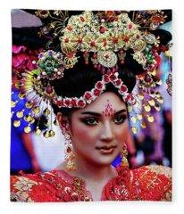 China Pageant Fashion Festival Fleece Blanket