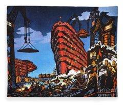 China: Poster, 1972 Fleece Blanket