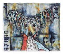 Chinese Crested Fleece Blanket
