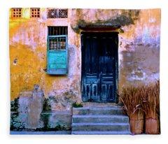 Chinese Facade Of Hoi An In Vietnam Fleece Blanket