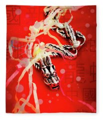 Chinese New Year Background Fleece Blanket