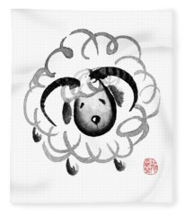 Chinese Zodiac For Year Of The Goat Fleece Blanket
