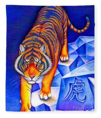 Chinese Zodiac - Year Of The Tiger Fleece Blanket