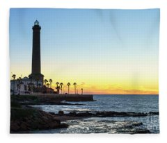 Chipiona Lighthouse Cadiz Spain Fleece Blanket