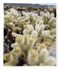 Cholla Cactus Garden Bunch Fleece Blanket