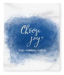 Choose Joy Fleece Blanket