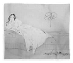 Chopin's Woman Fleece Blanket