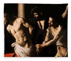 Christ At The Column Fleece Blanket