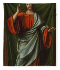 Christ Blessing Fleece Blanket