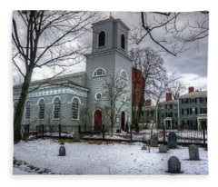 Christ Church In Cambridge Fleece Blanket
