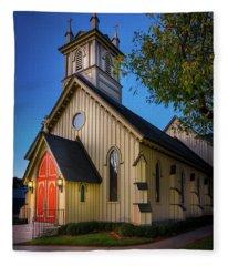 Fleece Blanket featuring the photograph Christ Episcopal Church by Allin Sorenson