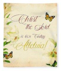 Christ Is Risen Fleece Blanket