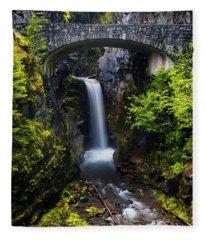 Christine Falls - Mount Rainer National Park Fleece Blanket