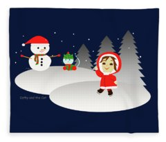 Christmas #6 Fleece Blanket