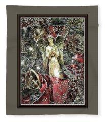 Christmas Angel Greeting Fleece Blanket