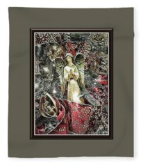Christmas Angel Greeting Fleece Blanket