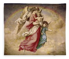 Christmas Angels And Baby Fleece Blanket
