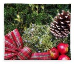 Christmas Arrangement Fleece Blanket