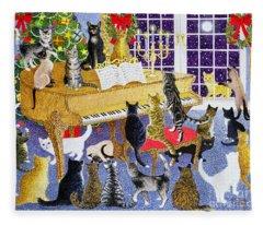 Christmas Chorus Fleece Blanket