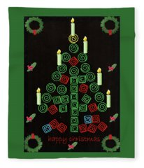 Christmas Clip Tree Fleece Blanket