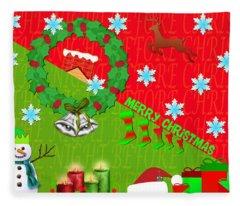Christmas Collage 3 Fleece Blanket