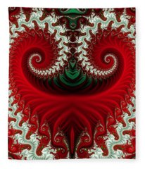 Christmas Swirls Fleece Blanket
