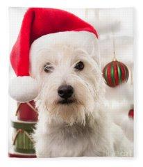 Christmas Elf Dog Fleece Blanket