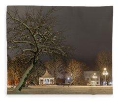 Christmas Evening In The Park Fleece Blanket