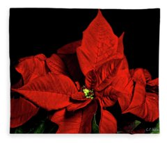Christmas Fire Fleece Blanket