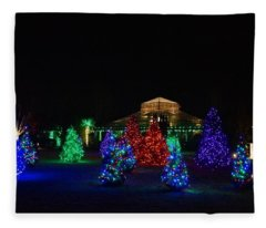 Christmas Garden 7 Fleece Blanket