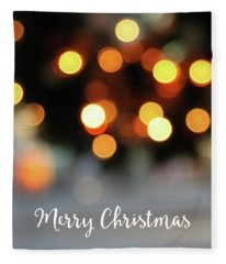 Christmas Glitter- Art By Linda Woods Fleece Blanket