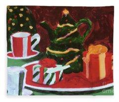 Christmas Holiday Fleece Blanket