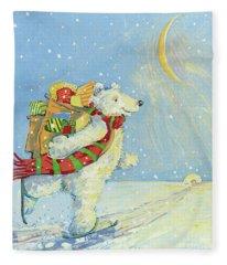 Christmas Homecoming Fleece Blanket