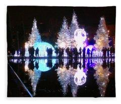 Christmas In Nizza, Southern France Fleece Blanket