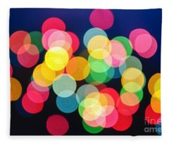 Christmas Lights Abstract Fleece Blanket