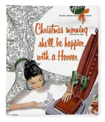 Christmas Morning She Will Be Happier With A Hoover Fleece Blanket