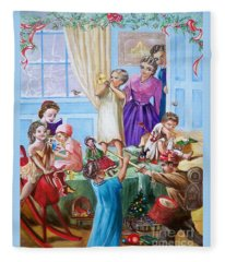 American History  We Say Merry  Christmas  Because It Is Christmas  Fleece Blanket