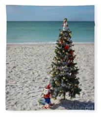 Christmas On The Beach Fleece Blanket