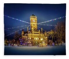 Christmas On The Square 2 Fleece Blanket