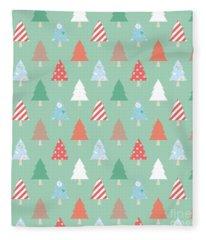 Christmas Pillow Fleece Blanket